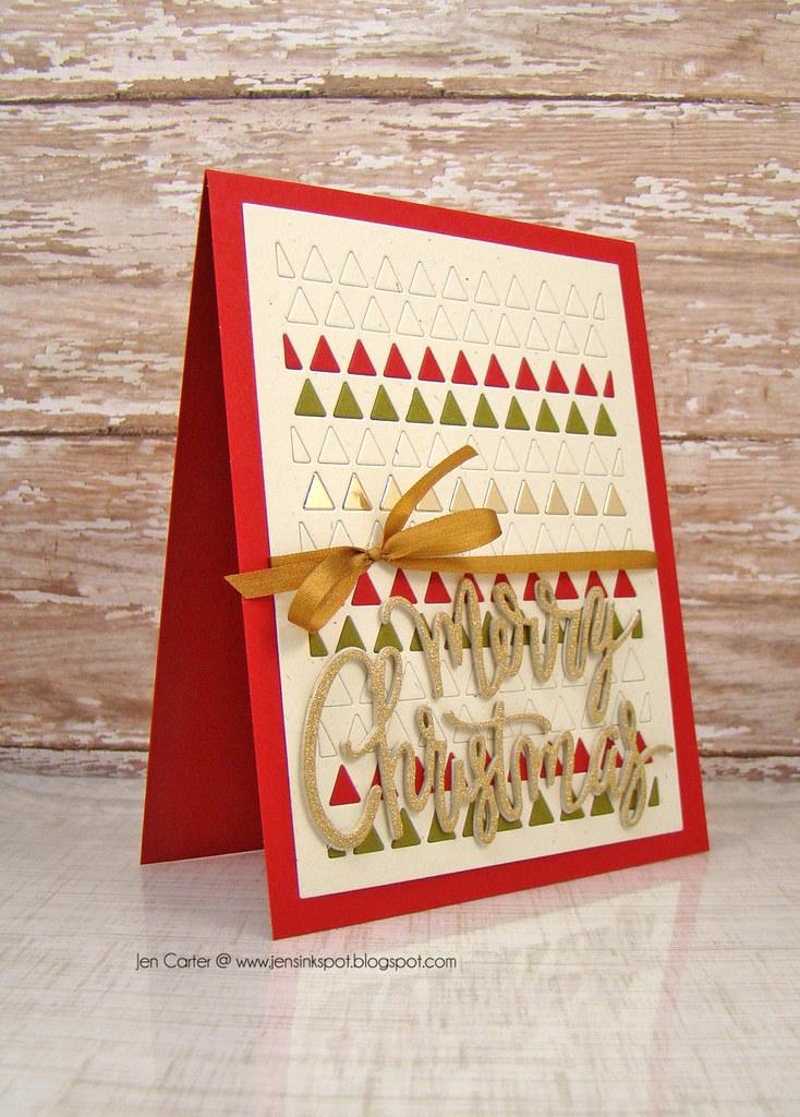 Jen Triangle Card Merry Christmas Side WM
