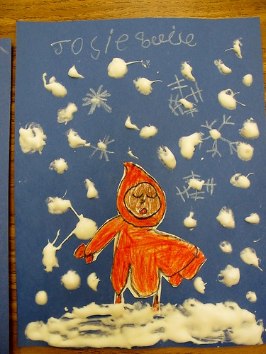 Snowy Day Kindergarten Art