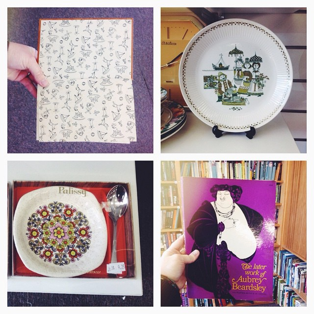 Things I saw and liked while opshopping today but didn't buy. Opshops are so expensive these days!