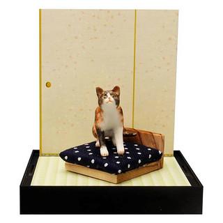 貓咪在和室房間的情景 盒玩