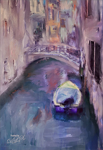 Painted image of a Venetian Canal