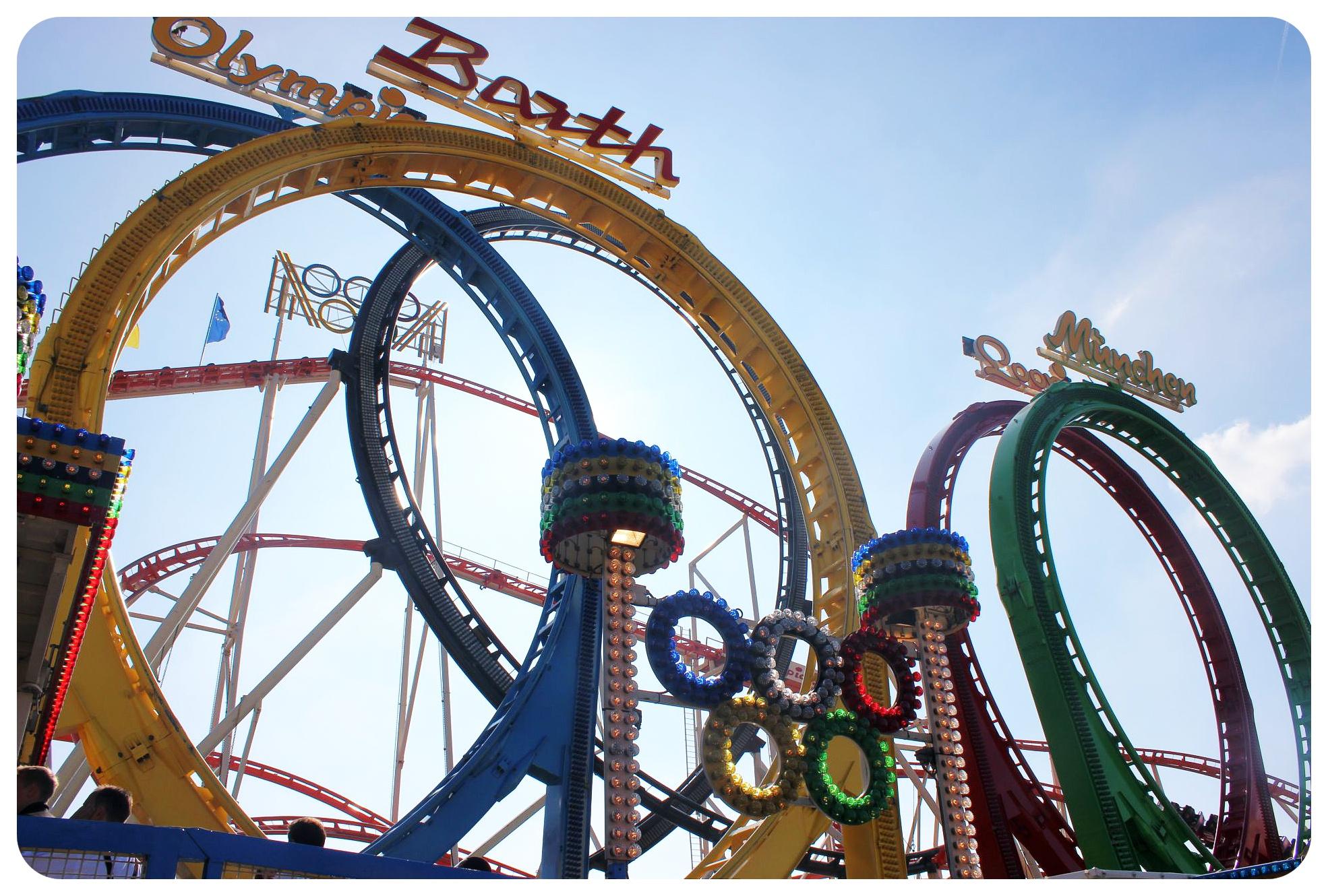 oktoberfest olympic rings roller coaster