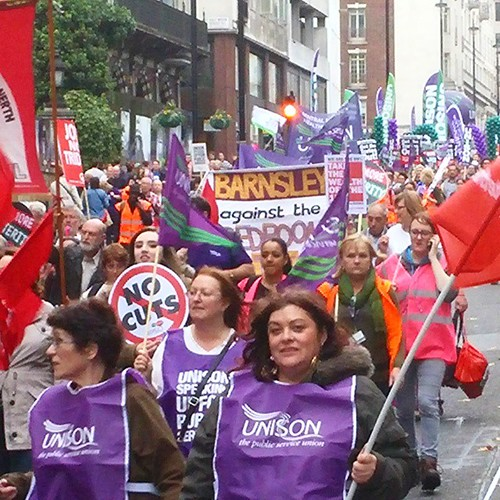 Today's march was massive and yet the bourgeois media will ignore it, as usual. #18thoct #tuc #britainneedsapayrise #demonstration #democracy #unions #scraptrident #socialism #livingwage