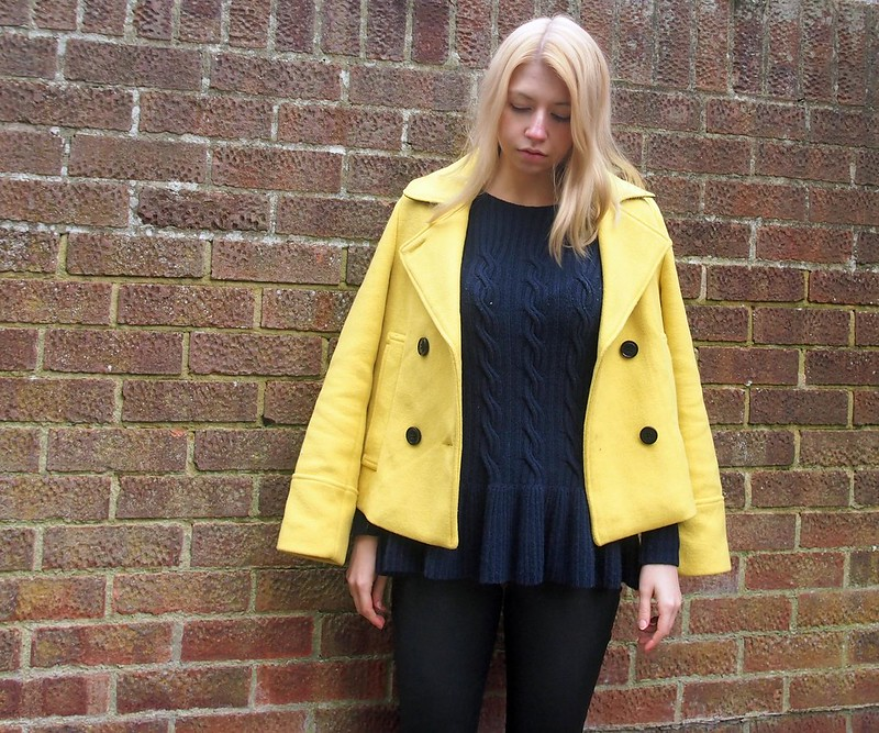 Pea Jacket, '60s Style, Sainsbury's, How to Wear, AW14, UK Fashion Blog, London Style Blogger