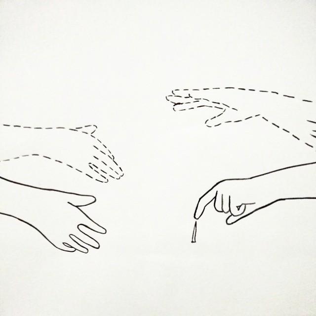 manos en movimiento.