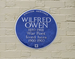 Photo of Wilfred Owen blue plaque