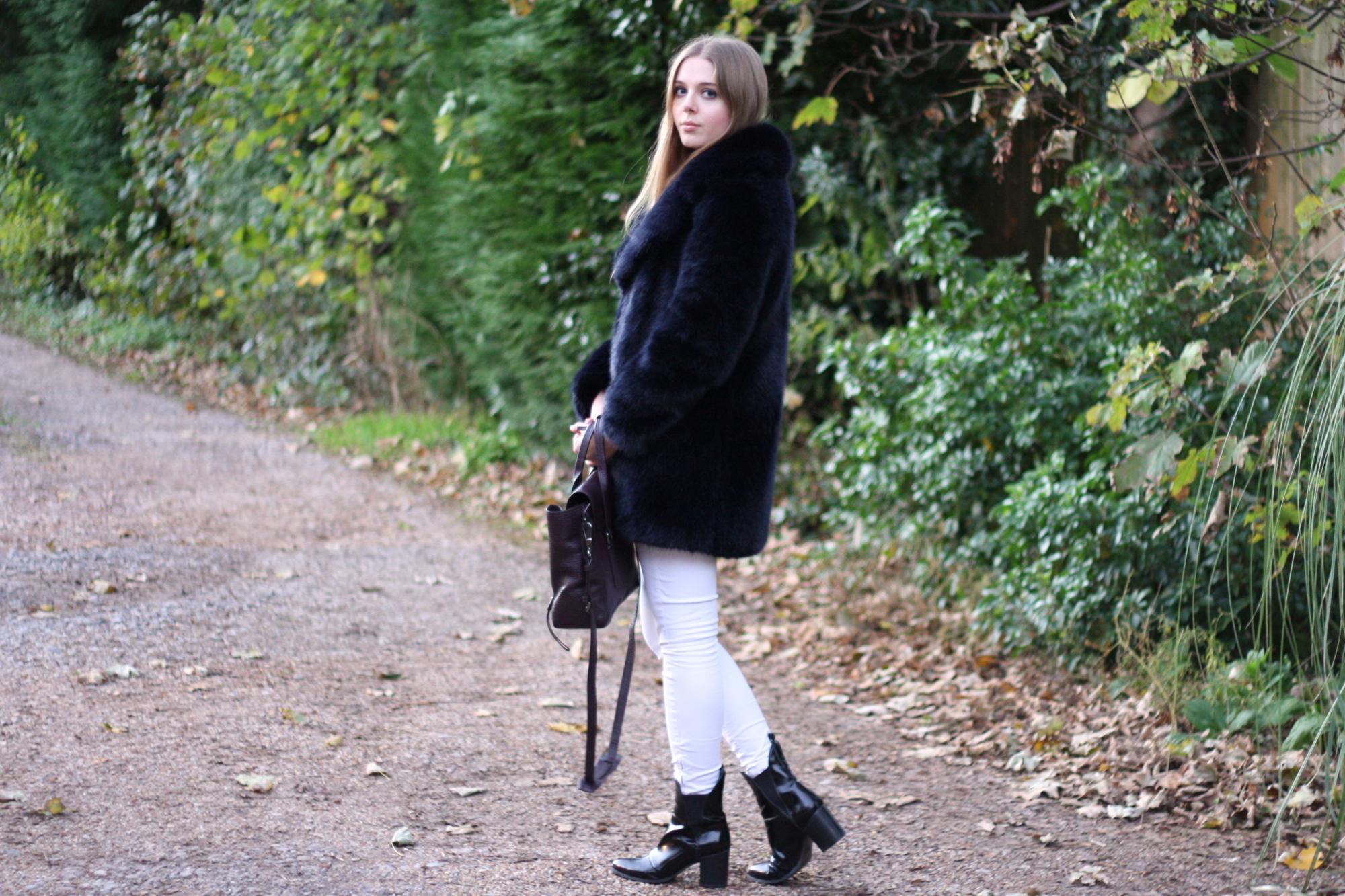 Zara black patent ankle boots