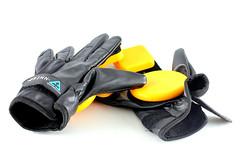yellow, glove,