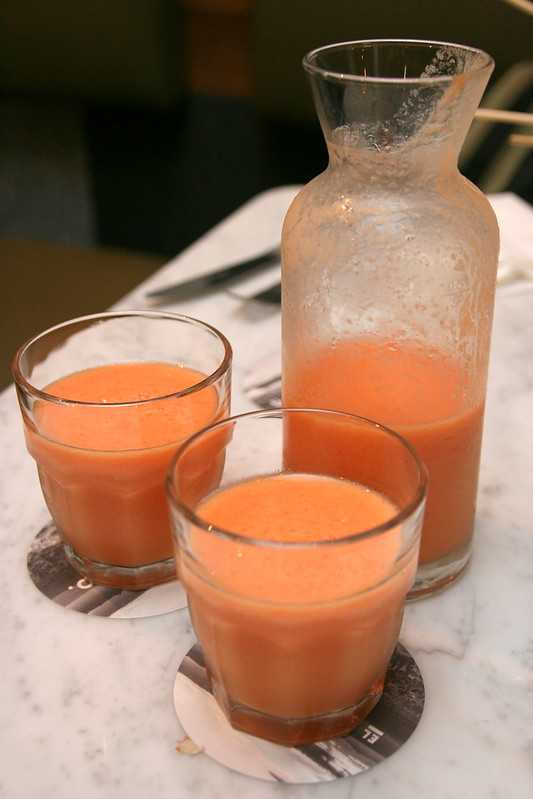 Daily juice of the day - papaya spiked with key lime