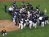2014 NLDS Game 4 - Giants celebrate on the field