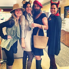 Just hangin with the girls at work. #beardedlady