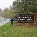 Shenandoah National Park Entrance with girl