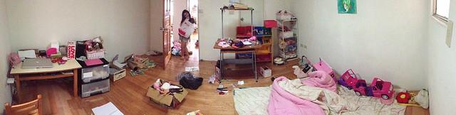 教小孩整理房間