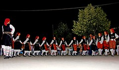 Macedonia, Florina region, traditional macedonian dance group from Drama, Greece