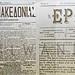 Vintage Greek newspapers, Beacon of Macedonia (1881), Hermes (1876), Thessalonik by Macedonia Travel & News