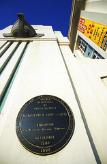 Photo of Edward Leader Williams, Manchester Ship Canal, and Victoria black plaque