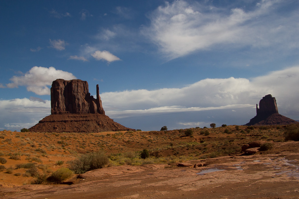 Left Mitten and Right Mitten - Monument Valley