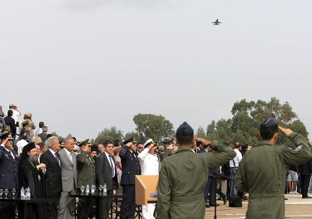 Ομιλία και δηλώσεις ΥΕΘΑ Δημήτρη Αβραμόπουλου στην τελετή απόσυρσης των Α/Φ Α-7 E/H Corsair