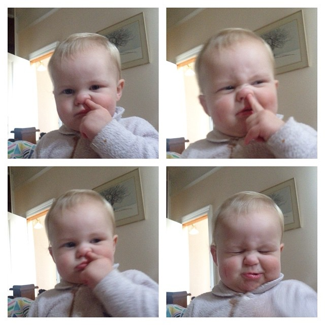 Today #babyjagoe learnt how to pick his nose.