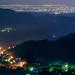 In Taiwan Nantou LUGU . 台灣南投 從鹿谷鳳凰山遠眺西部平原(中央最遠處是台塑麥寮六輕)  DSC_7689