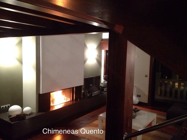 Chimenea quento con stuv 21 105 showroom - Chimeneas quento ...