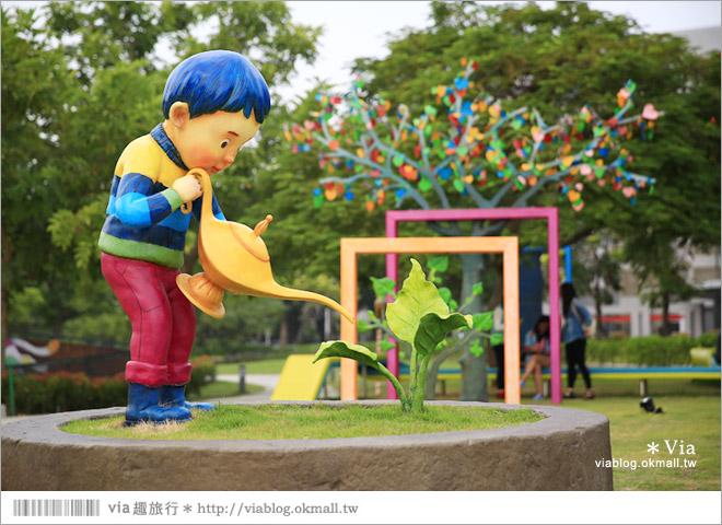 【南科幾米】台南|台積電南科幾米裝置藝術小公園~願望盛開‧許諾之地5