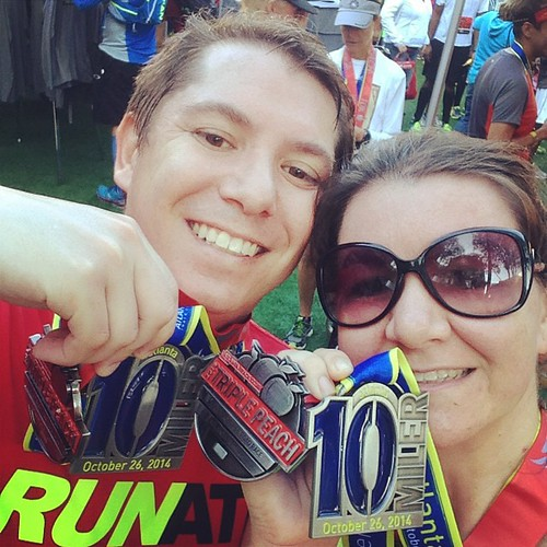 We did it! Boom!  #atl10mile #triplepeach #runlikeamother