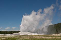 prairie, cloud, geyser, landscape,
