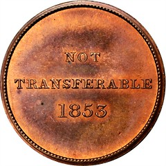 1853 Mobile Jockey Club Members Medal reverse