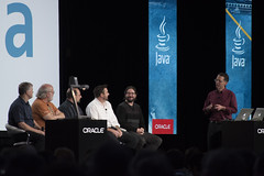 John Rose, James Gosling, Brian Goetz, Brian Oliver, Charles Nutter and Mark Reinhold, Community Panel, JavaOne Technical Keynote Replay, JavaOne 2014 San Francisco