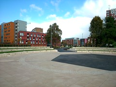 Aston University landscaping completed - Harriet Martineau Residences