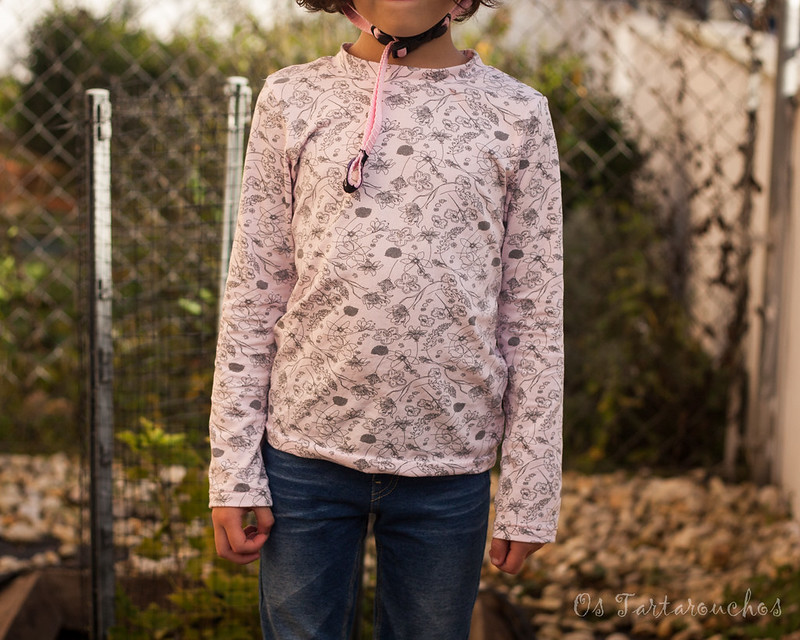 camisola de flores