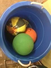 Bucket of Playground Balls grand rapids montessori school