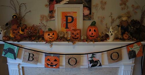318 Patchwork Halloween Bunting