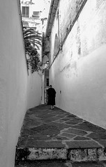 Woman in alley mono-2
