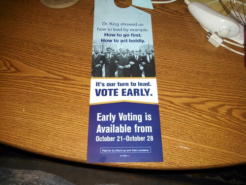 Vote early hanger
