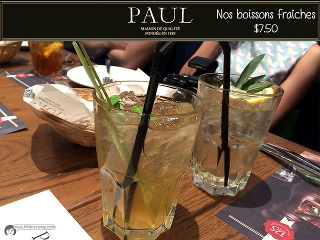 PAUL nos boissons fraiches