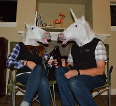 A family discussion among unicorns