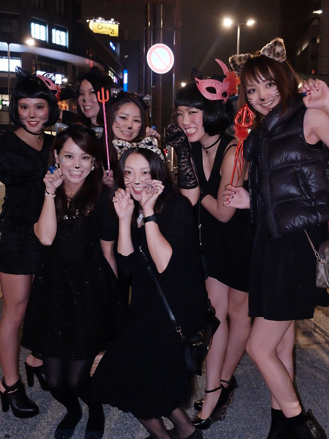 Black cats Nakameguro Blue Halloween 45