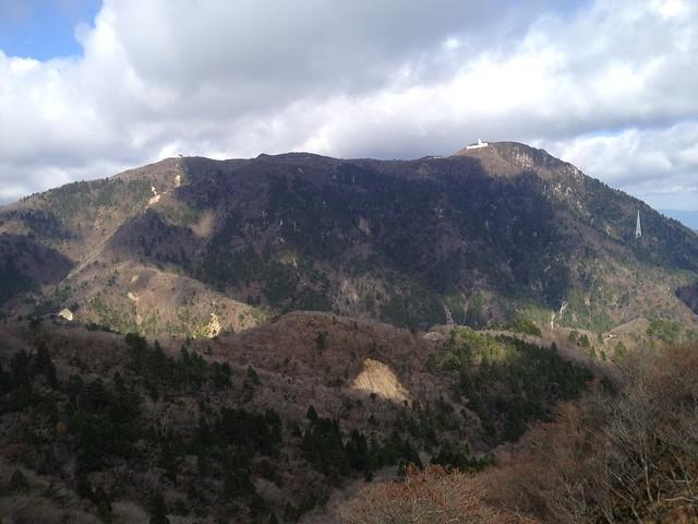 鎌ヶ岳 長石尾根から御在所岳