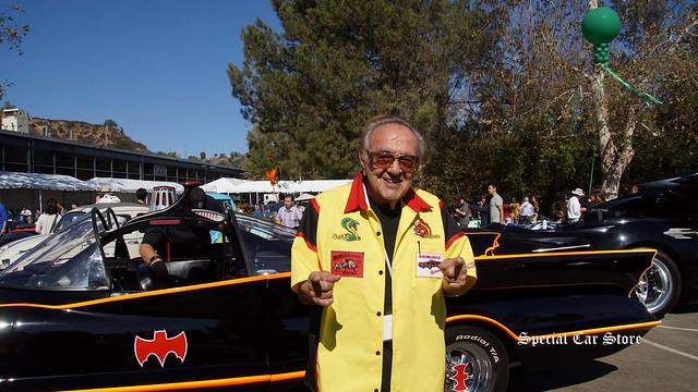 George Barris in front of his 1966 Batmobile