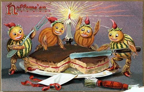 Halloween postcard, circa 1908