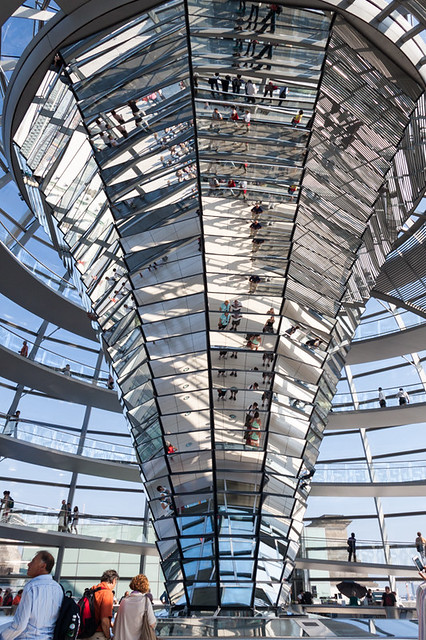 Inside the Bundestag Dome.