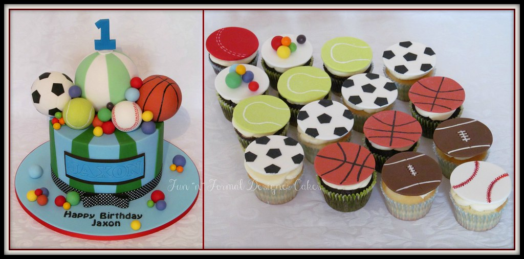 Strange Ball Themed Birthday Cake Melissa Woodward Flickr Funny Birthday Cards Online Inifodamsfinfo