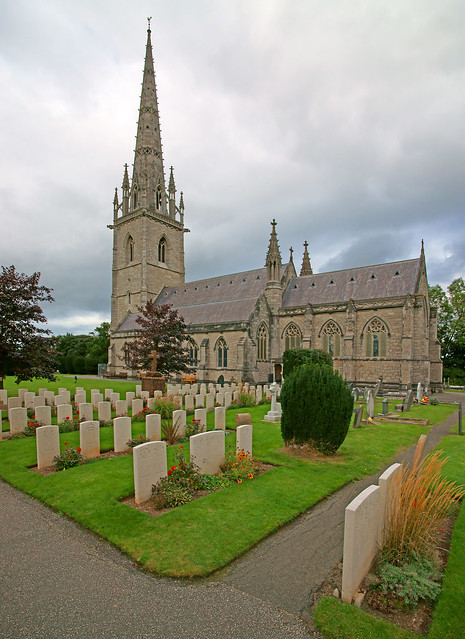 The Canadian war graves at St Margaret's Church, Bodelwyddan, North Wales
