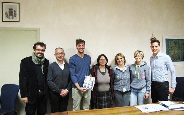 Incontro della giunta e del sindaco Daniele Meluzzi con il giovane artista Riccardo Rontini