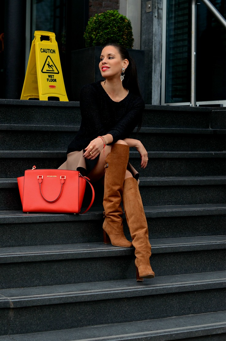 DSC_4101 Michael Kors Selma Bag Manderin, Over The Knee boots, Tamara Chloé
