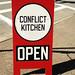 @Conflict Kitchen. by meganthedeal