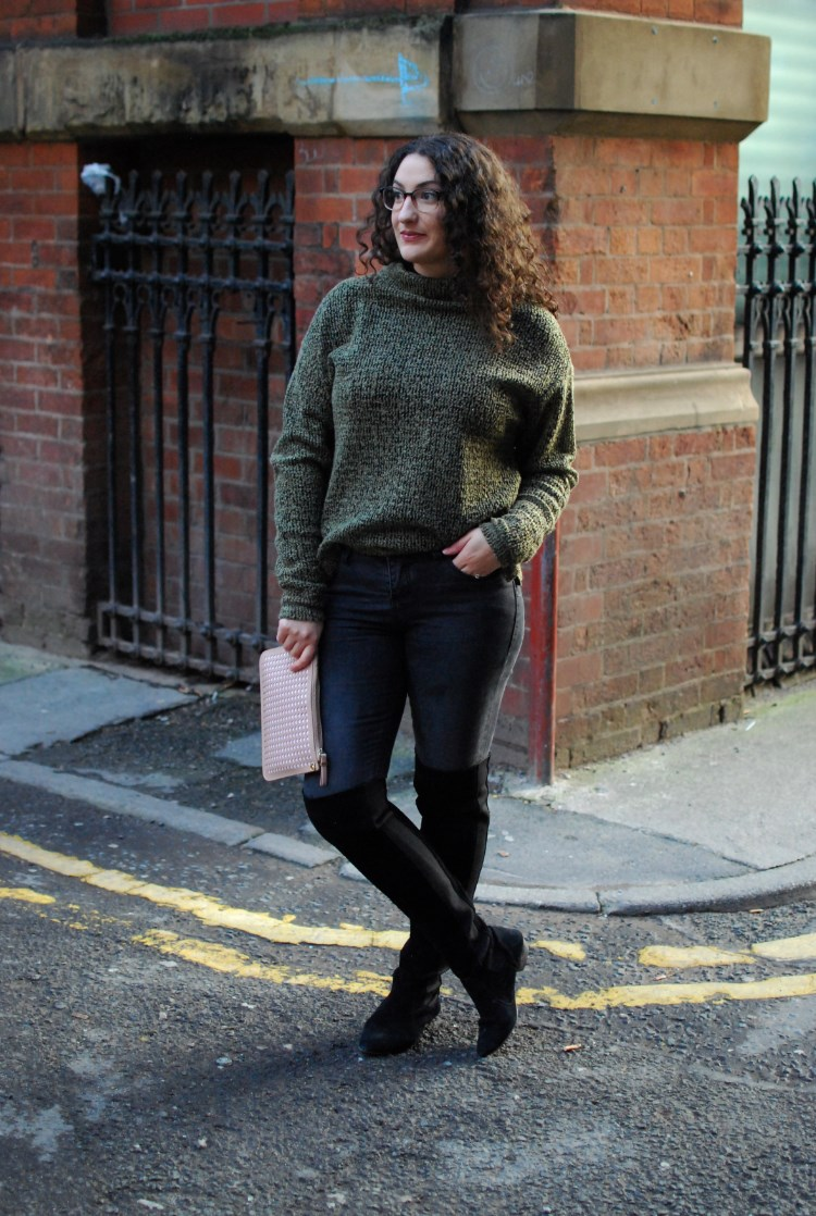 autumn style over the knee boots chambray and curls