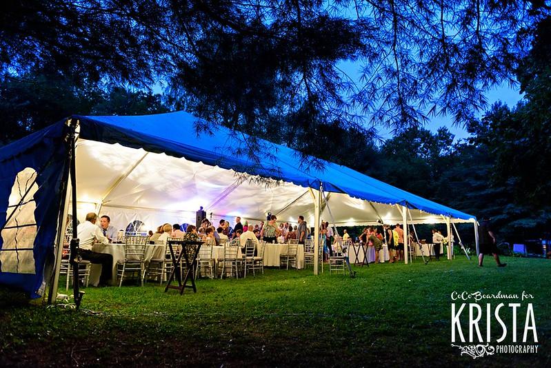 Backyard Tent Wedding